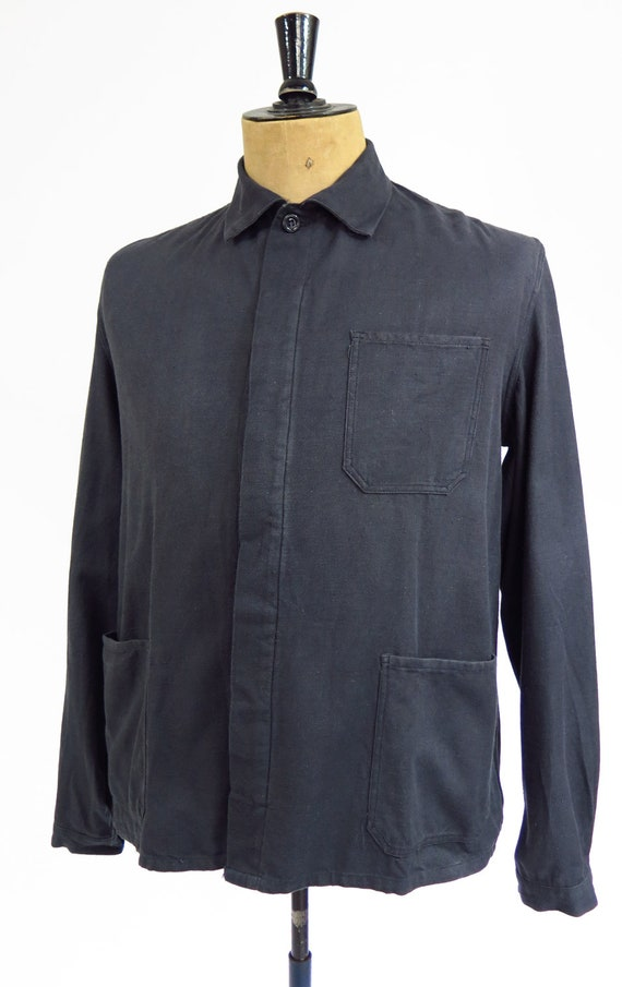Original Vintage 1950s French Workwear Jacket - image 6