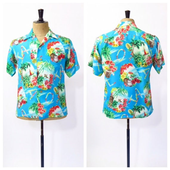 RARE 1950s Iolani Hawaiian Shirt