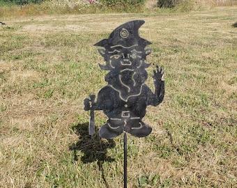 Gnome   Garden Art   Metal Garden Stake   Mothers Day Gift   Garden Sign    Garden Plaque   Garden Stake   Yard Art   Yard Stake