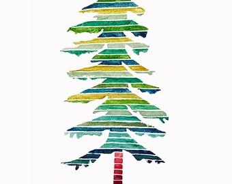 Watercolor Pine Tree Print