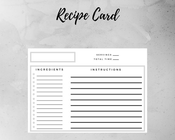 40 recipe card template and free printables – tip junkie.