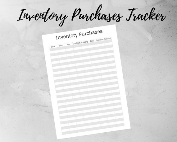 Printable Inventory Planner Inventory Spreadsheet Inventory Etsy