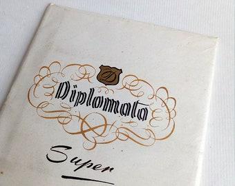 Set of Vintage Letters - Super Diplomat. Envelope and Lined Letter Paper. Set of Envelopes. Vintage Paper Ephemera.