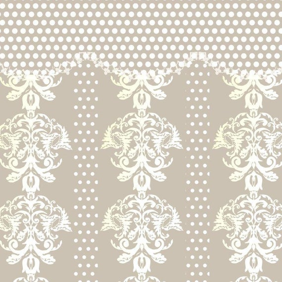 Grey White Cream Damask Wallpaper Digital Instant Download