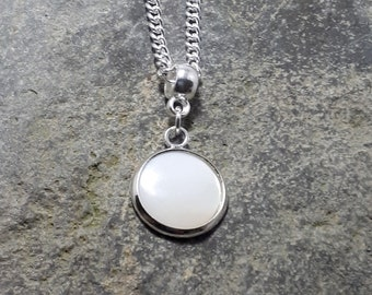 Mother of Pearl Pendant, Tiny Pendant, Gemstone Pendant, Matching Earrings, Matching Bracelet, Part of a Set,
