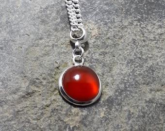 Red Carnelian Pendant, Tiny Pendant, Gemstone Pendant, Matching Earrings, Matching Bracelet, Part of a Set,