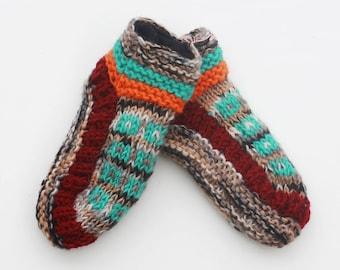 2dd161c9c97b39 Sherpa Indoor Slipper Socks - Elizabeth 100% Wool HandMade