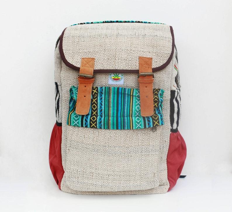 a81fe93a4e5e4 Hemp backpack rucksack Retro Laptop Backpack Hemp bags