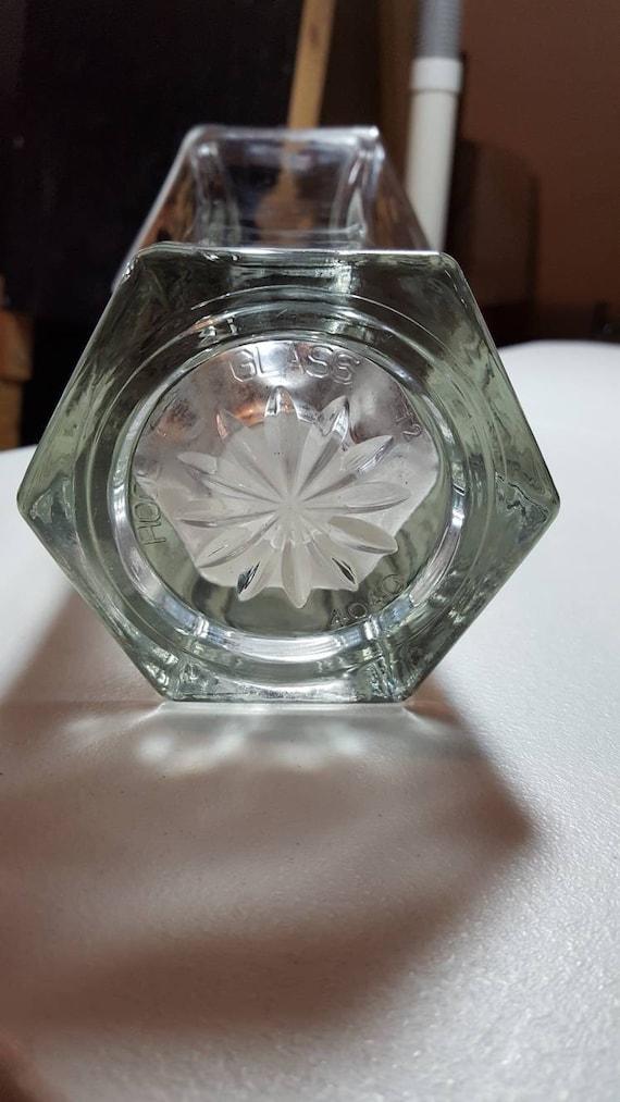 Vintage Hoosier Glass 12 Hexagon Clear Glass Vase 9 Etsy