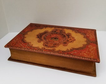 Vintage Decorative Fake Book Hidden Secret Storage Box Book Shelf Decor
