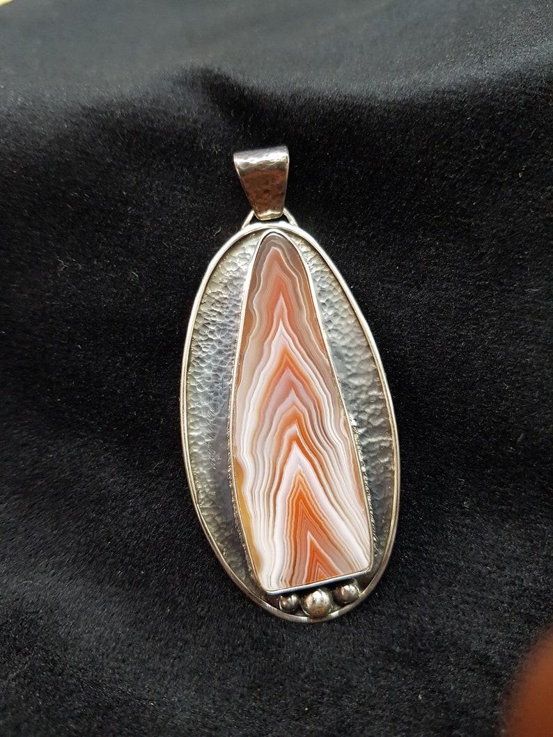 Australian Agate Pendant in  Sterling Silver