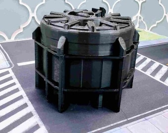 Chemical Tank - Miniature Terrain - Marvel: Crisis Protocol Terrain - Size 4 - 3D Printed