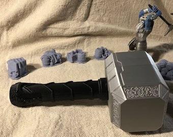 Thor's Hammer Dice Container/Mjolnir Dice Container/Warhammer Dice Container/Dice Storage
