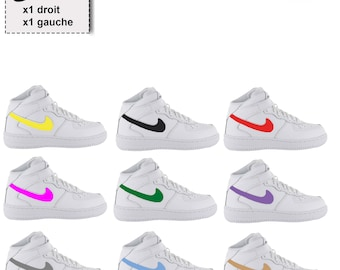 new concept e6b51 04eba 2 x Iron on stickers decal NIKE swoosh logo heat transfer shoes, sneakers