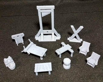 28mm Torture Chamber Accessories scatter terrain for Dungeons and Dragons D&D Pathfinder Tabletop RPG