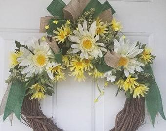 Joyful sunflower wreath