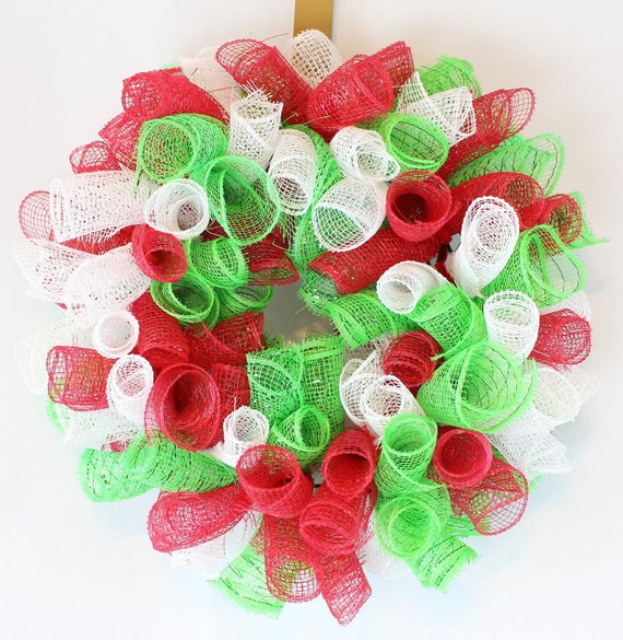 Small Christmas Wreaths.Red Green And White Christmas Wreath Small Christmas Wreath Christmas Candle Ring Mini Wreath
