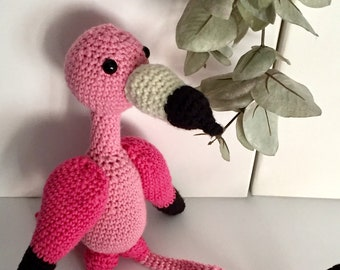 Flamingo Amigurumi Animal Stuffed toy/Flamingo Amigurumi toy
