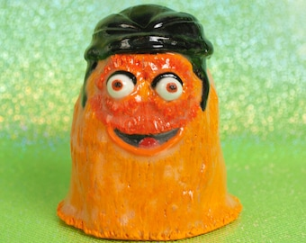 Made to Order Handmade Ceramic Gritty Glazed Sculpture Action Figure Figurine Googly Eyes Tongue Hockey NHL Philly Rangers