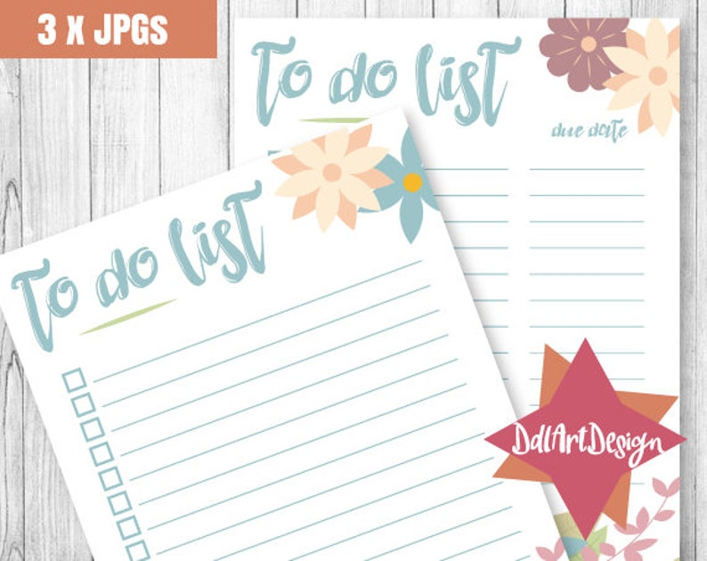 To do list template printable to do list floral pastel to ...