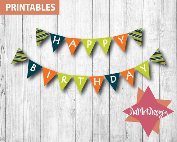 image about Printable Birthday Banners identified as Satisfied Birthday banners - printable birthday banner, birthday props, electronic down load banner