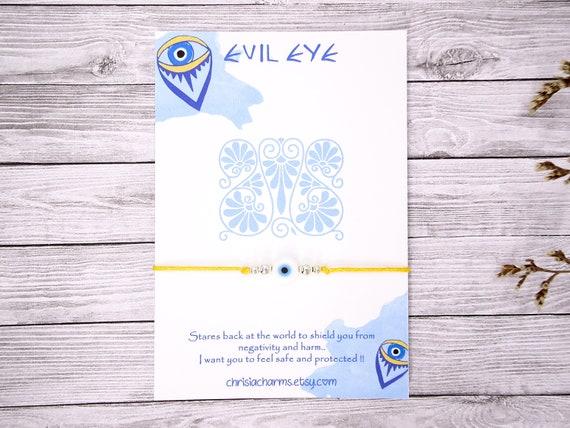 Greek Evil Eye Wish Bracelet, Blue Evil Eye, Protection Bracelet, Greek Mati
