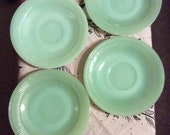 Fire King Jade-ite saucers - 4