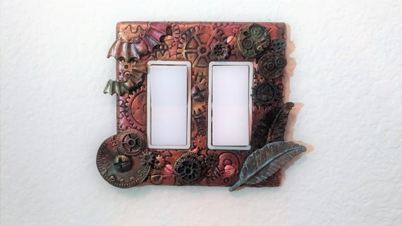 Polymer Clay Rusted Steampunk Wall Switch Cover Plate Etsy