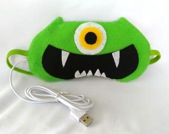 Lavender Fragrant USB Heated Designer Sleeping Eye Mask