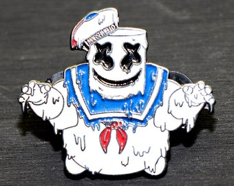 """Stay Puft Marshmello Man Grime style Lapel Pin/Hat Pin - 1.5"""" LE100"""