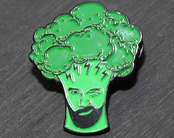 Broccoli Crenshaw (Barclay Crenshaw aka Claude Von Stroke of Dirtybird / Holy Ship) Lapel Pin/Hat Pin