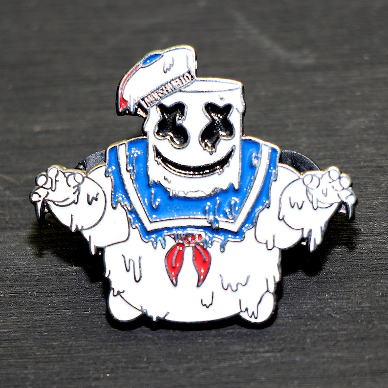 Stay Puft Marshmello Man Grime style Lapel Pin/Hat Pin  image 0