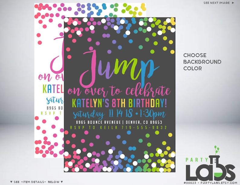 Trampoline Party Invitation Jump Birthday Invite