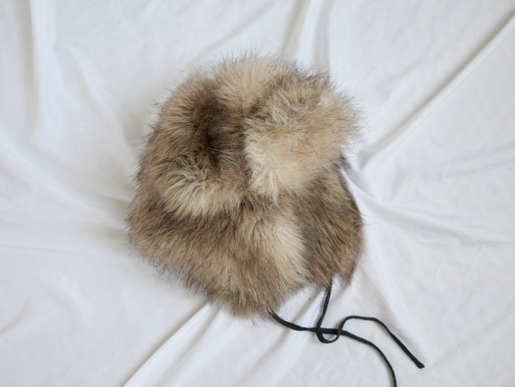 vintage fur trapper winter hat / arctic winter hat