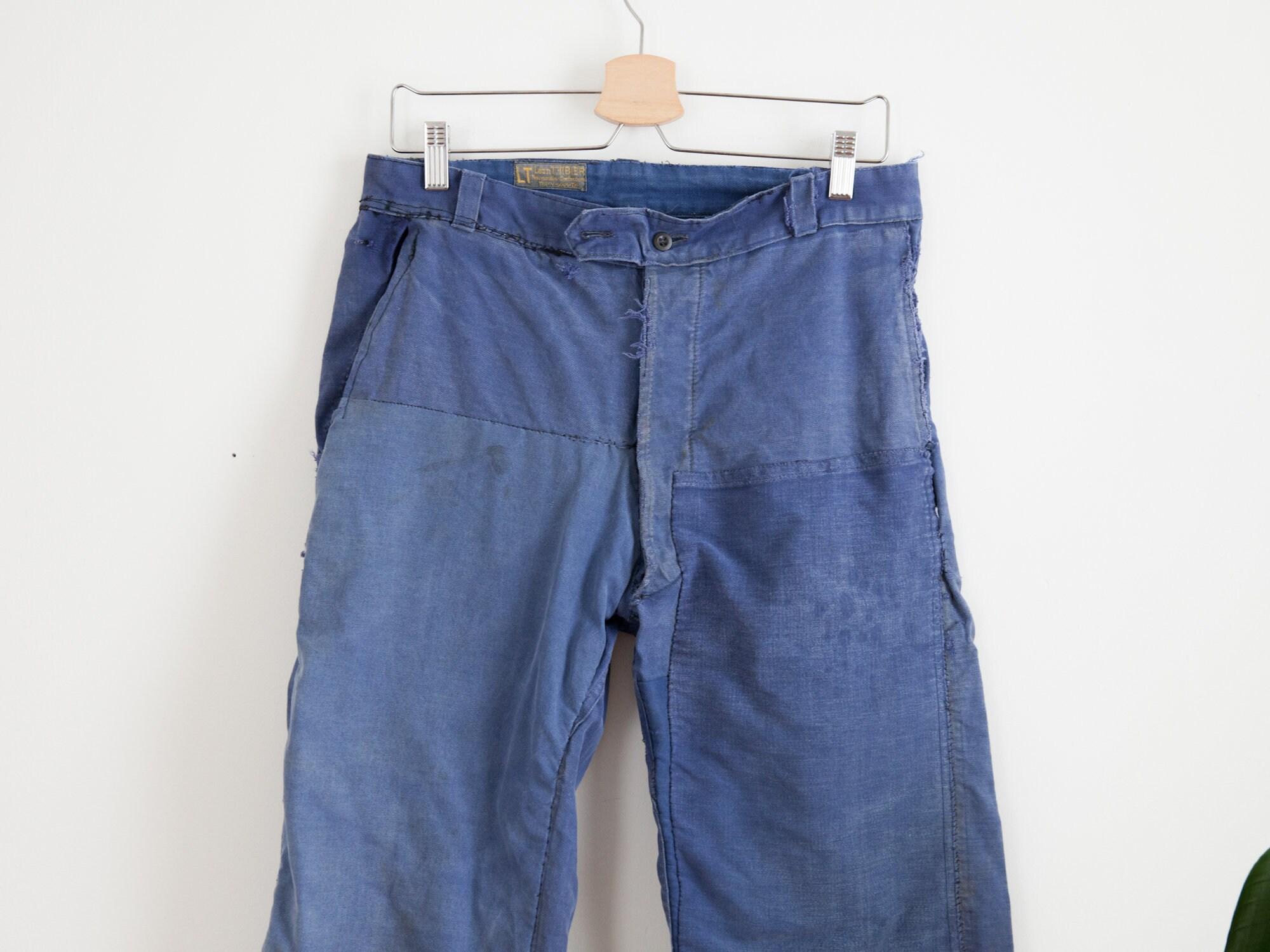 1960s – 70s Men's Ties | Skinny Ties, Slim Ties Waist 31 Men1950S 1960S Vintage French Faded Blue Moleskin Chore Cargo Pants Work Trousers De Travail $0.00 AT vintagedancer.com