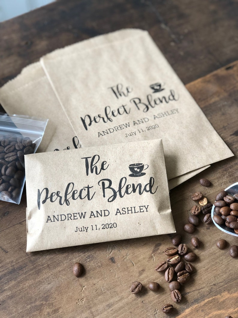 Bridal Shower Coffee Favor  Coffee Favor Bag Wedding Favor  image 0