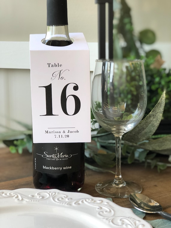 table markers wedding souvenirs Wine tags 12 tables
