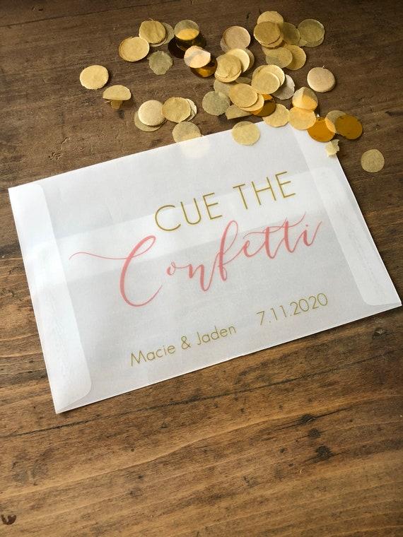 Pergament Konfetti Umschlage Hochzeit Konfetti Werfen Etsy