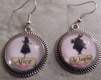 "Earrings ""Alice and rabbit"""