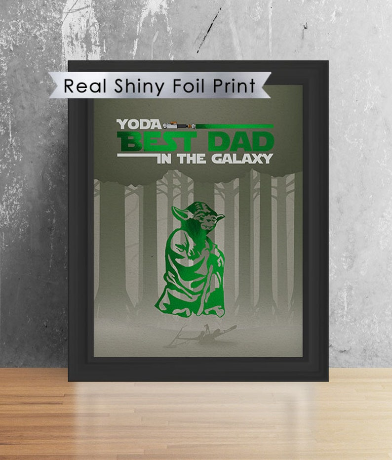 b0484b11c Star Wars Yoda Best Dad 8X10 Print Birthday Gift | Etsy