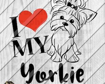 "Yorkiepoos Dog Bone Car Magnet 2/"" x 7/"" USA Made I Heart Love"