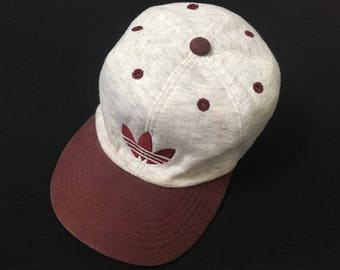 2fe1e1bd8fd Vintage 90s Adidas Trefoil Embroided Logo One Size Rubber Band Baseball  Caps Hats