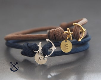 e6ffba781c1f1 Anchor bracelet   Etsy