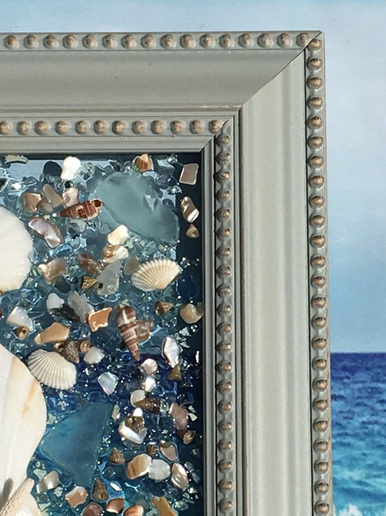 Sea Glass Window ArtBeach Glass Window ArtBeachscapeBeach Resin ArtBeach Glass ArtSeashell ArtStarfish Beach ArtCoastal Glass Art
