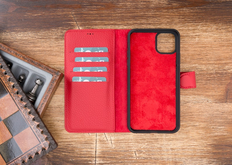 iPhone 11 Pro Max,Handmade Leather Wallet \u0130phone 11 Case,iPhone wallet case,11 pro case,iPhone 11 pro max-RED iPhone 11 Pro iPhone 11