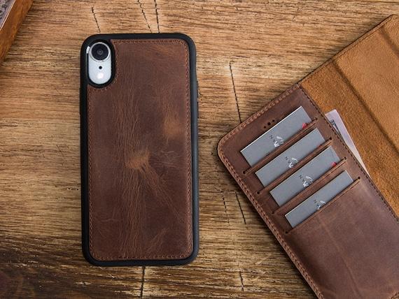 IPhone XR Leather Wallet Case iPhone XR Magnetic Detachabel