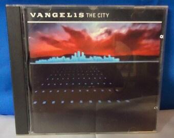 """052318 10 Used Vangelis """"The City"""" CD Atlantic 7 82248-2"""
