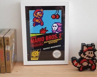 Super Mario Bros 2 NES inspired poster