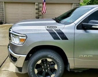 Pre cut Double Bar Fender Hash Mark Hashes Stripe Stripes decals fit any model 2019 2020 Dodge Ram 1500