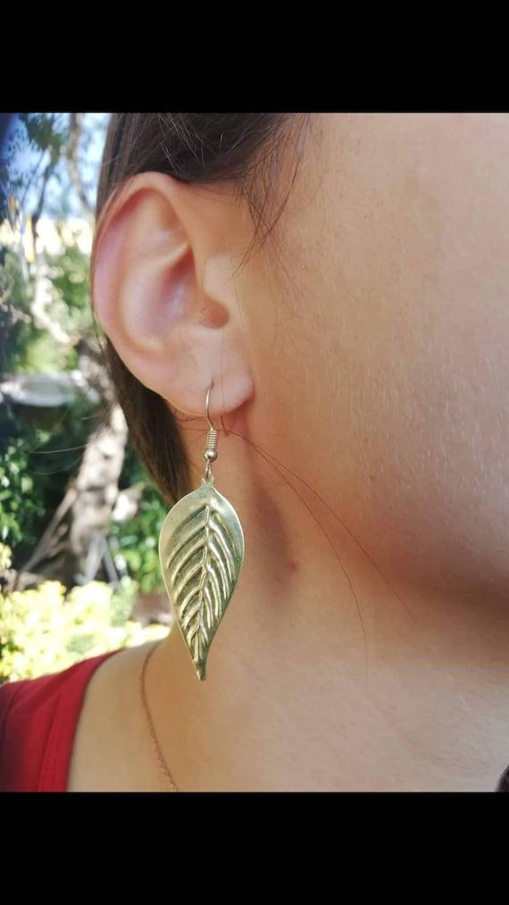 olive leaf earrings ancient greek art  earrings for women/'sbrass earrings